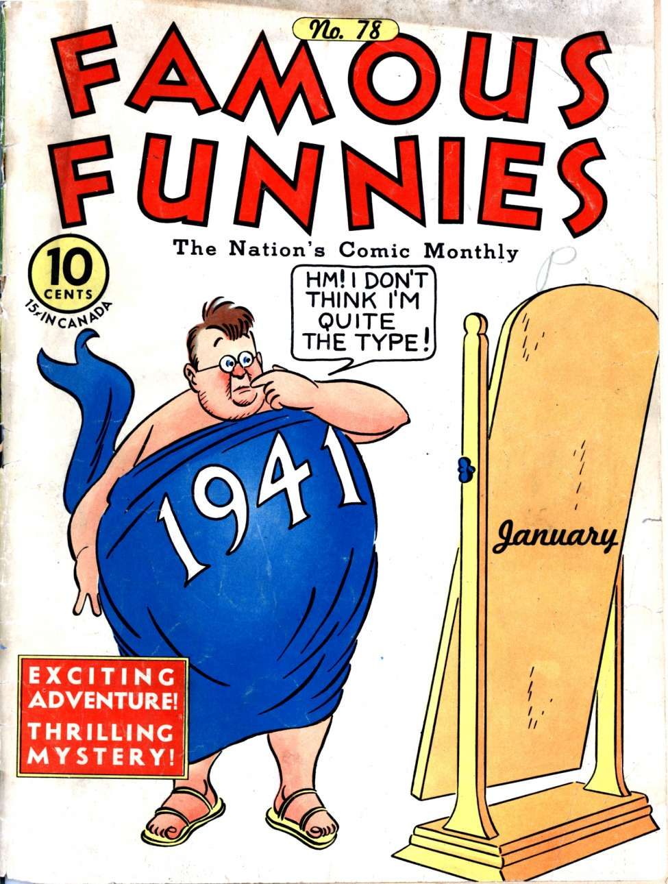 Comic Book Cover For Famous Funnies #78