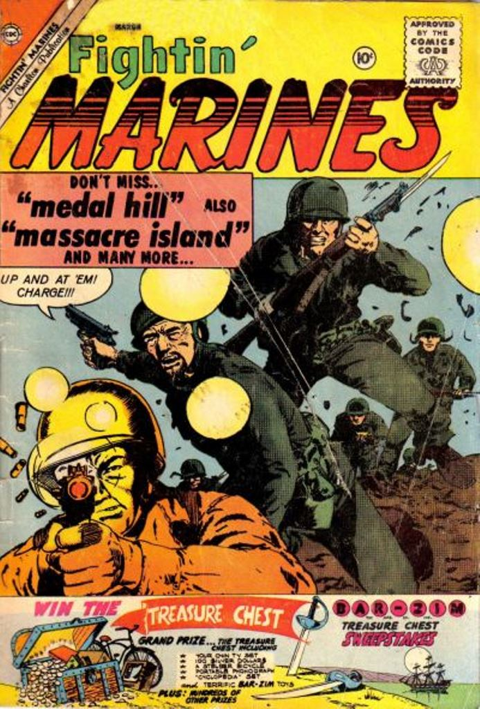 Comic Book Cover For Fightin' Marines #40