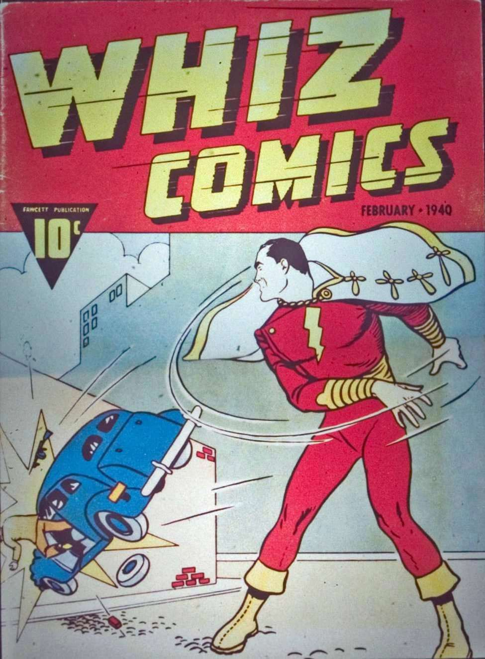 Comic Book Cover For Capt. Marvel Whiz Archives Vol 01