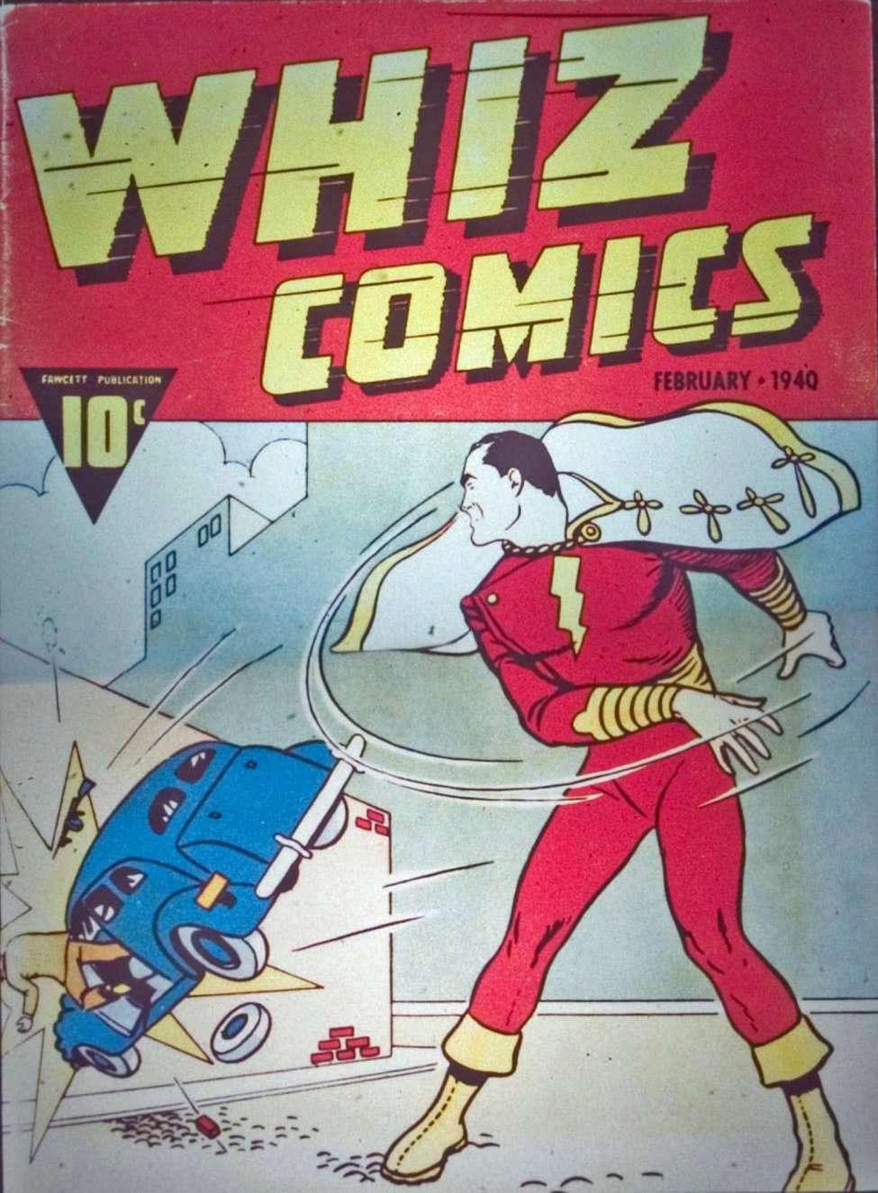 Comic Book Cover For Capt. Marvel Whiz Archives Vol 01