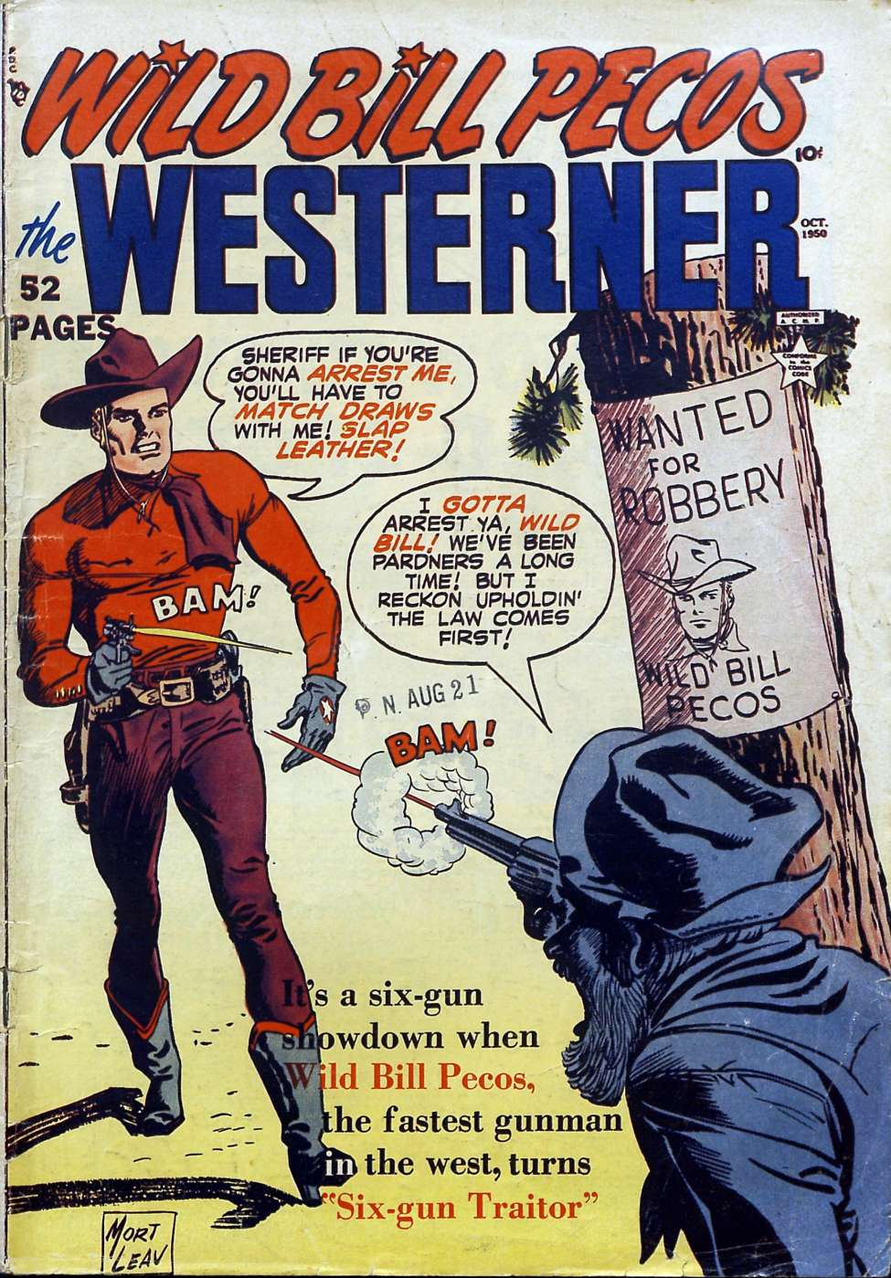 Comic Book Cover For The Westerner Comics #29
