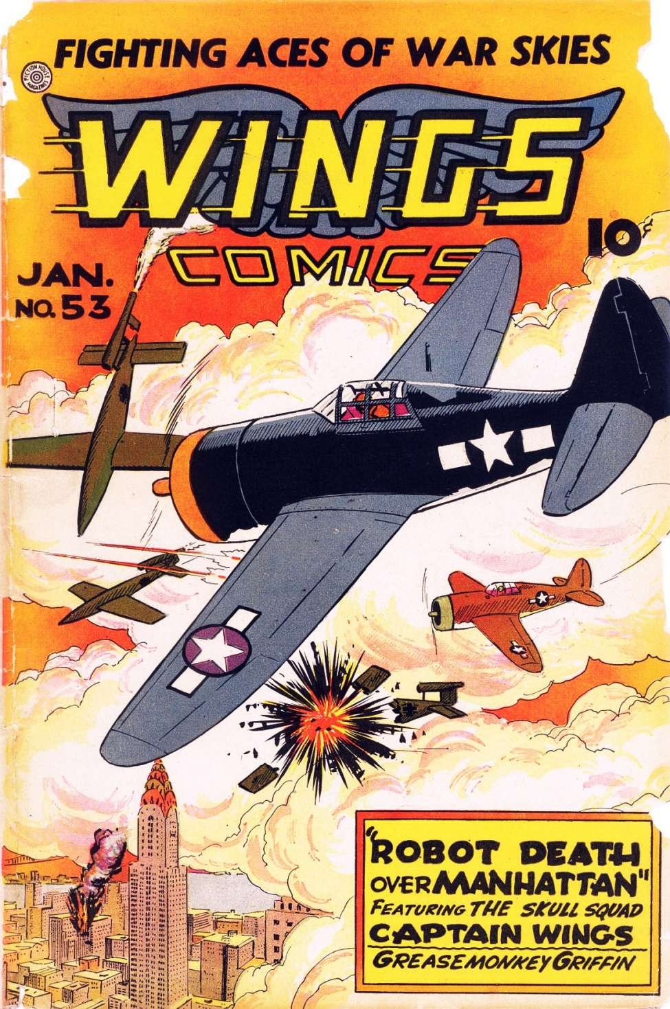Comic Book Cover For Wings Comics #53