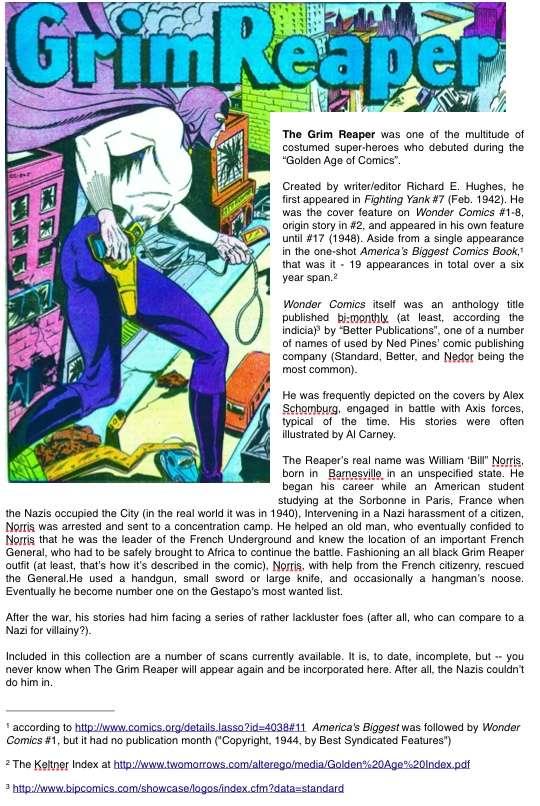 Comic Book Cover For Grim Reaper Vol 2 (Better)
