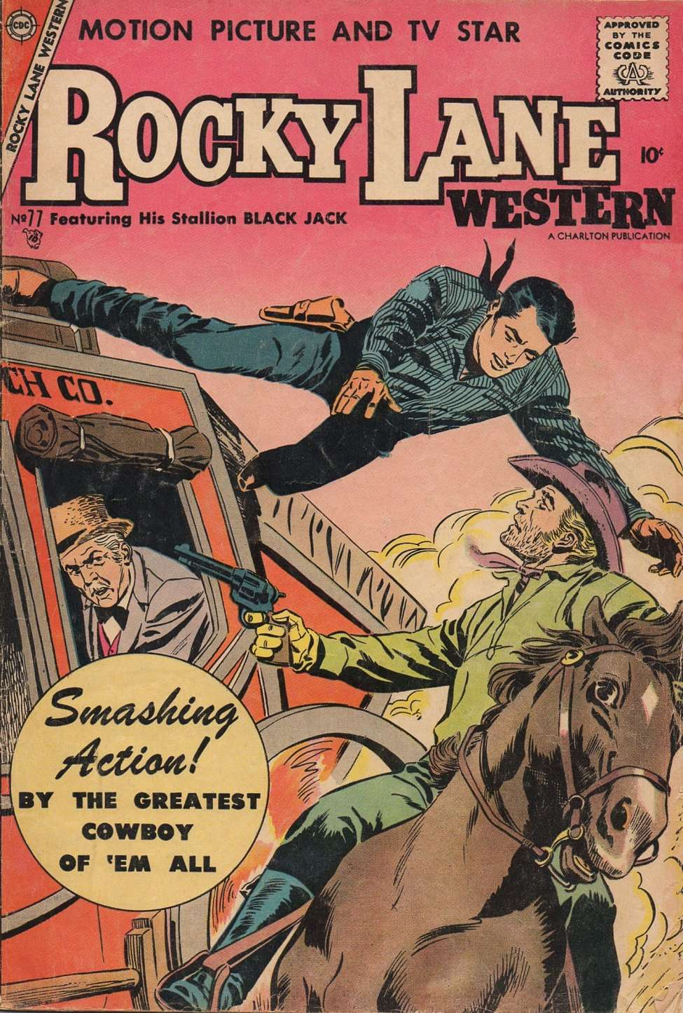 Comic Book Cover For Rocky Lane Western #77