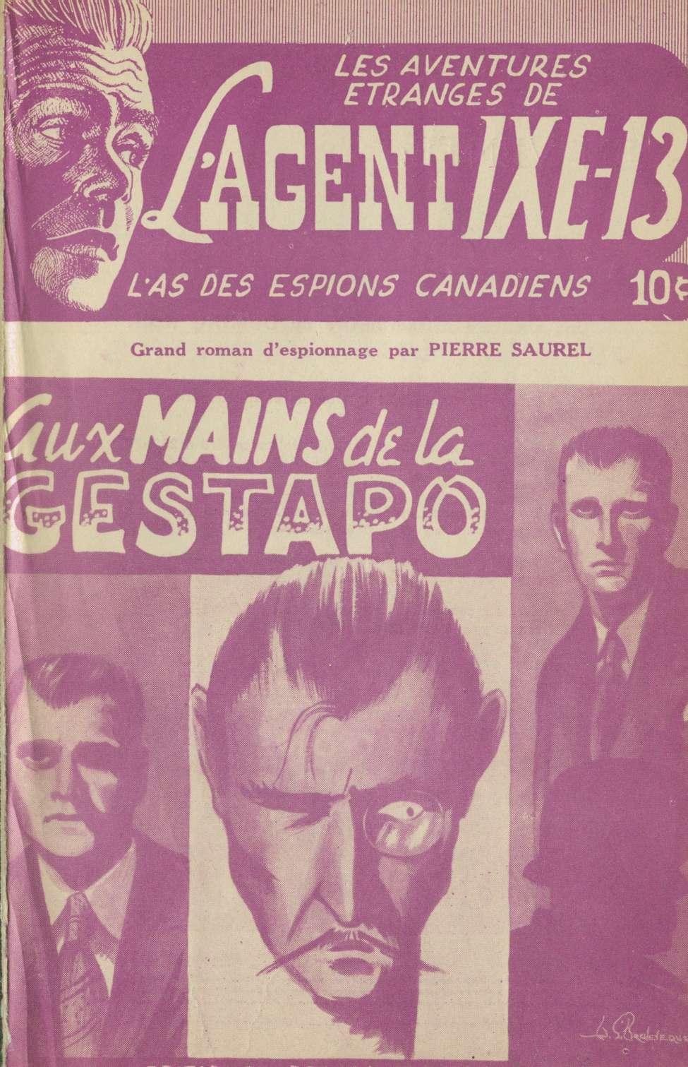 Comic Book Cover For L'Agent IXE-13 v1 003 - Aux mains de la Gestapo