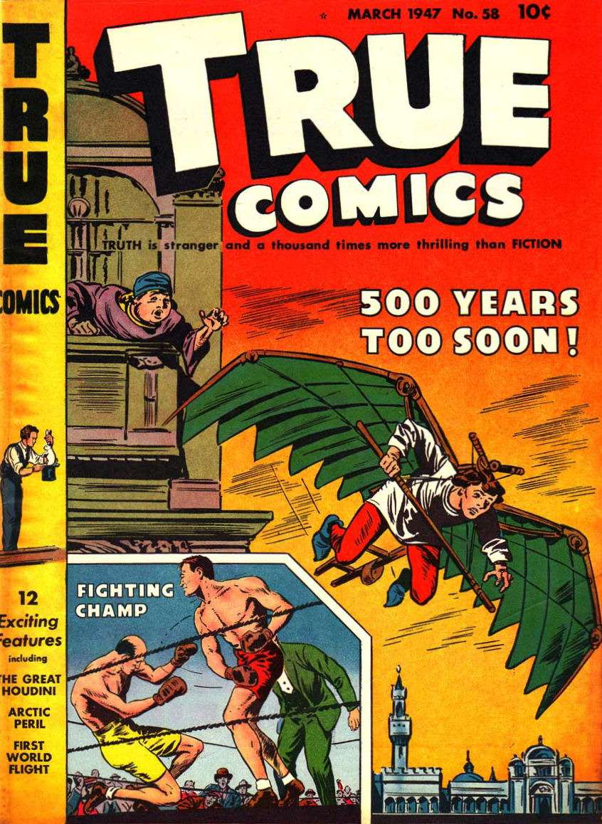 Comic Book Cover For True Comics #58