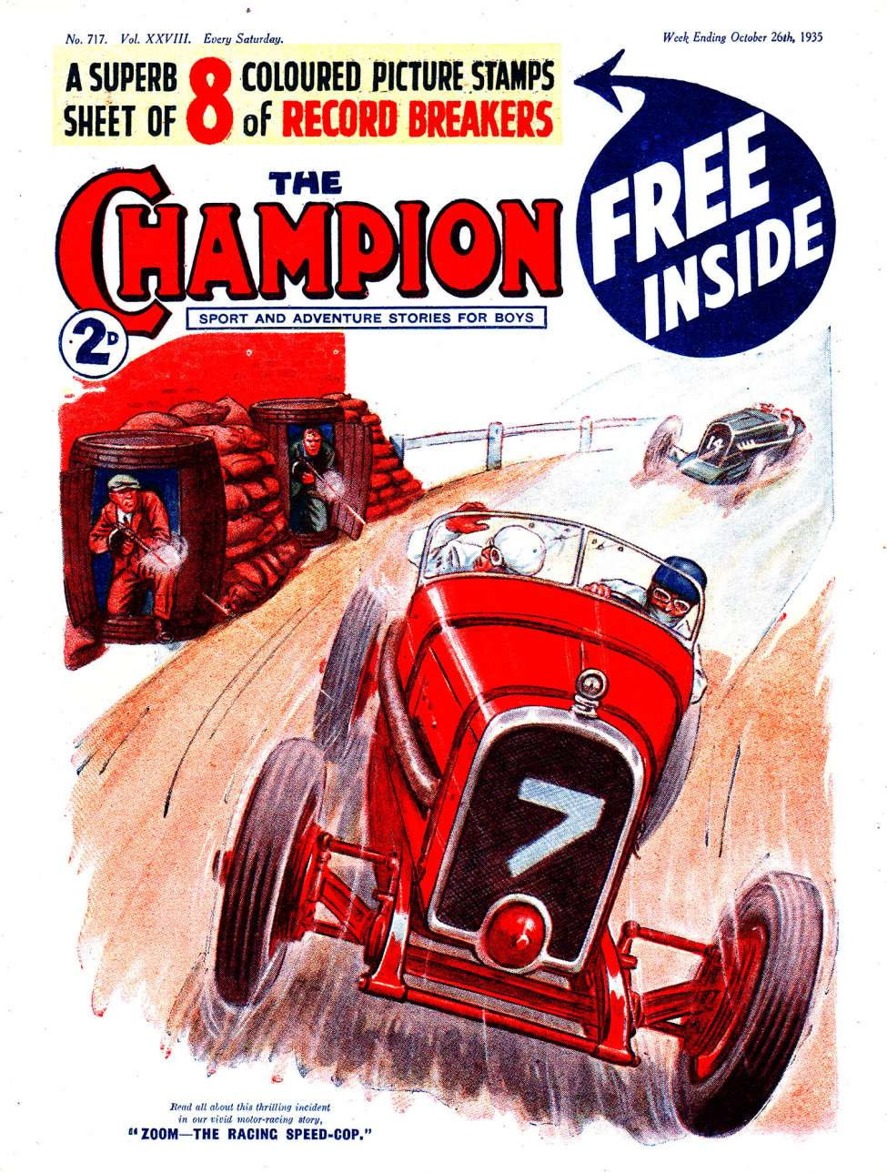 Comic Book Cover For The Champion 0717