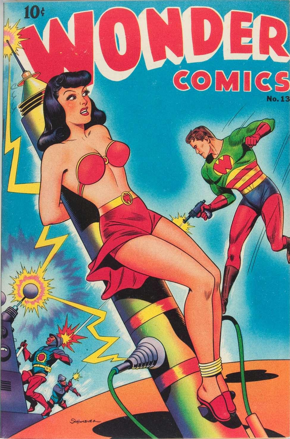 Comic Book Cover For Wonder Comics #13