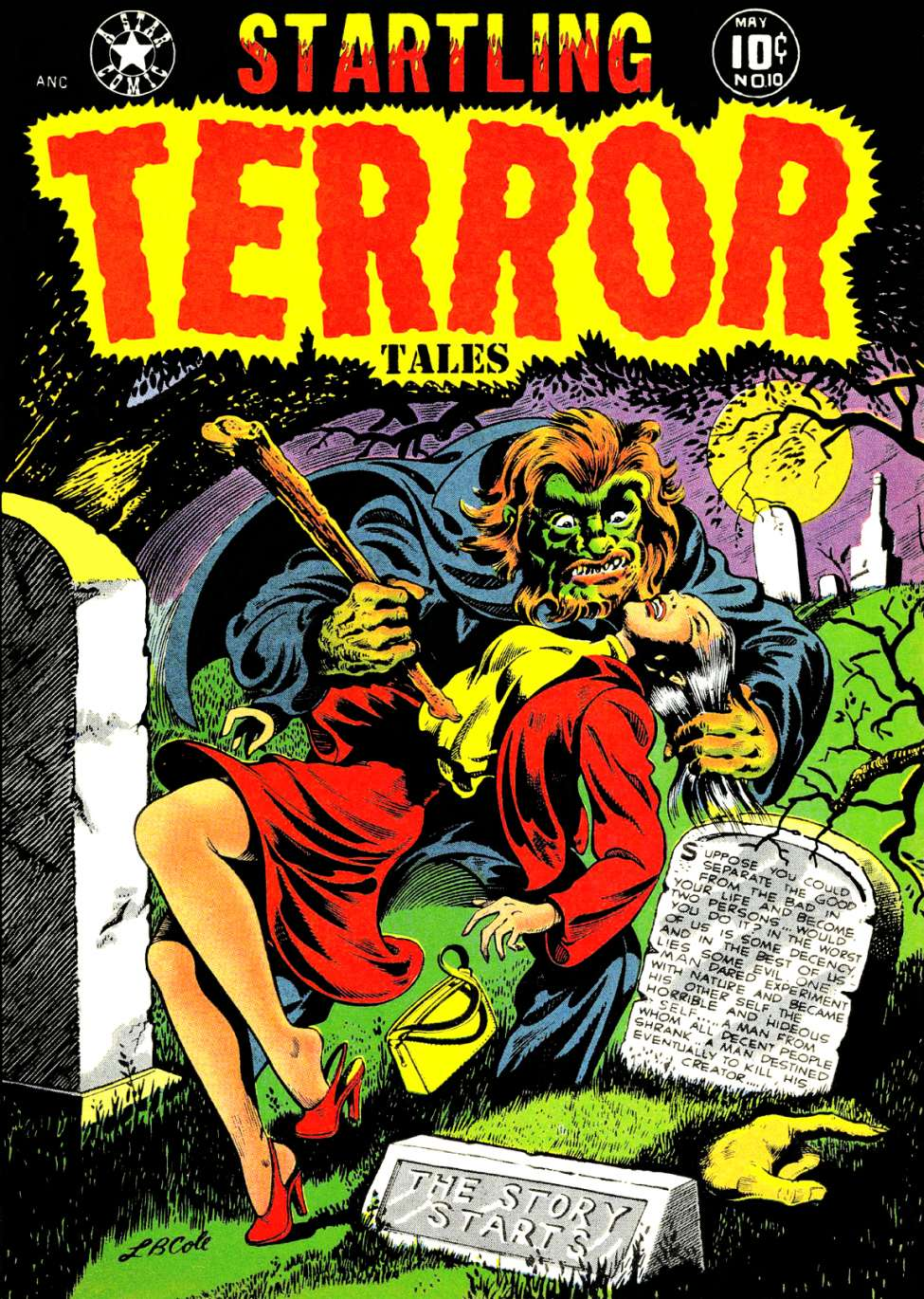 Comic Book Cover For Startling Terror Tales #10