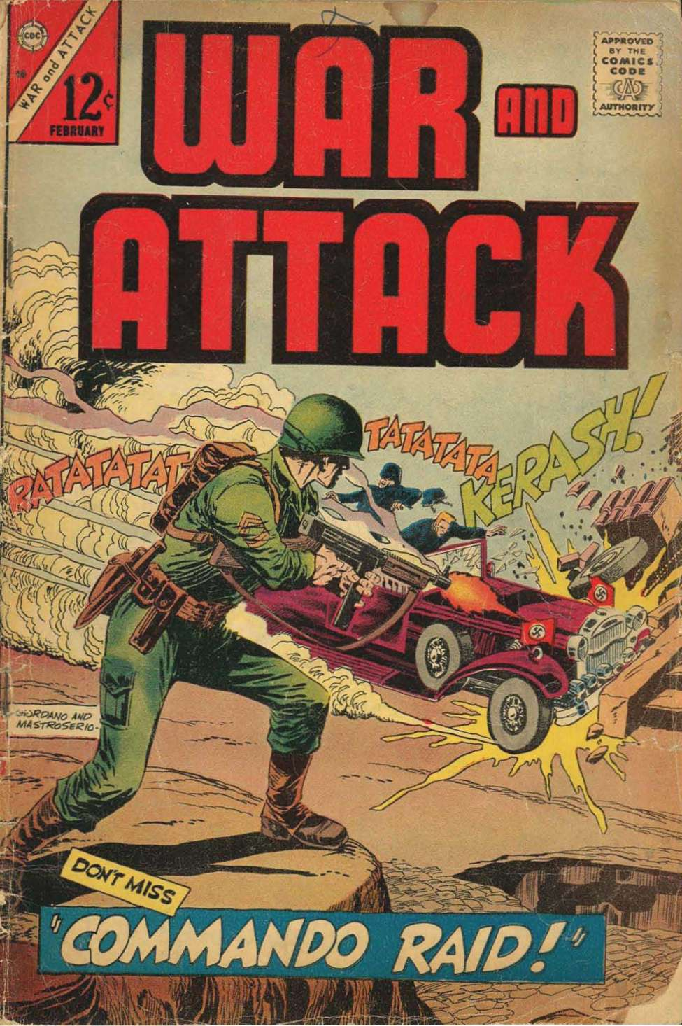 Comic Book Cover For War and Attack #58