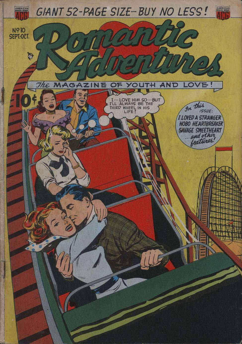 Comic Book Cover For Romantic Adventures #10