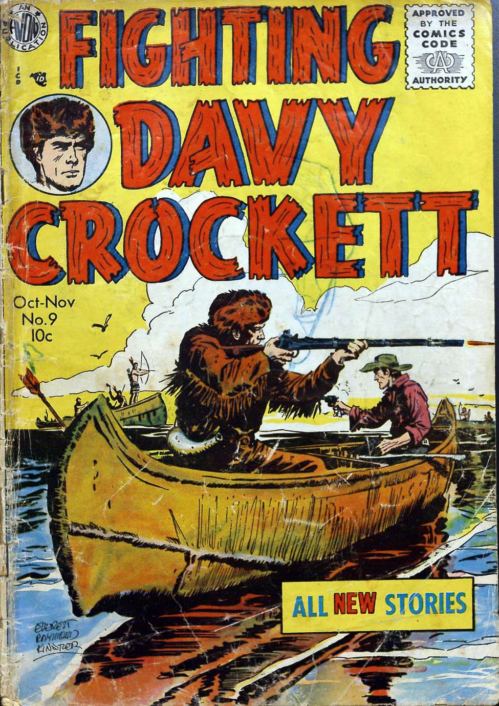 Comic Book Cover For Fighting Davy Crockett #9