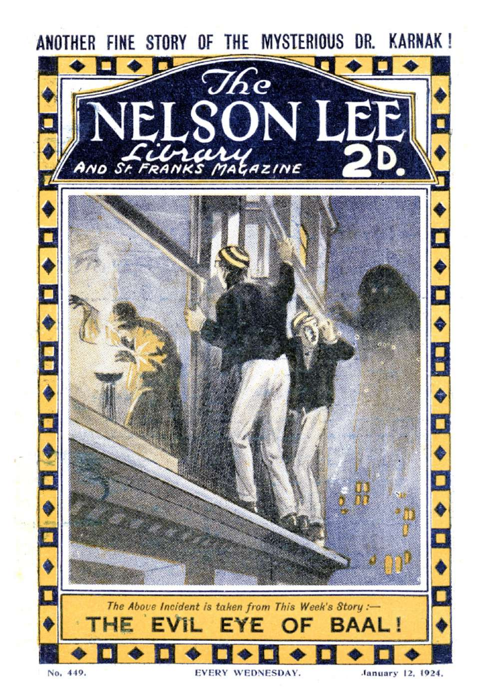 Comic Book Cover For Nelson Lee Library s1 449 - The Evil Eye of Baal