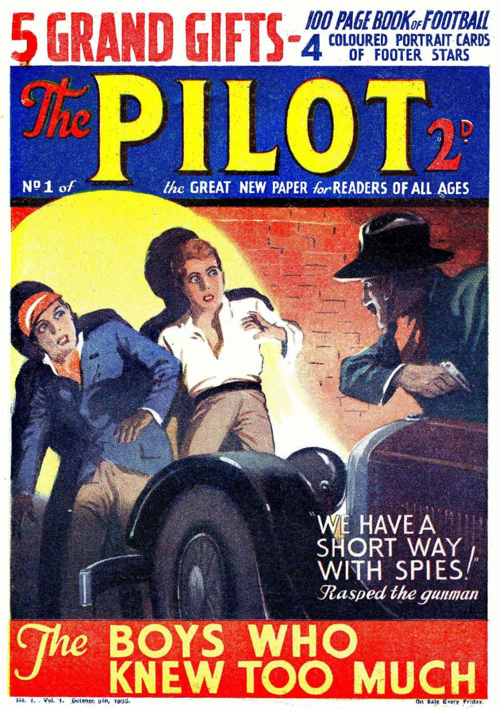 Comic Book Cover For The Pilot 001 - 014 (culled The Three Cowboys)