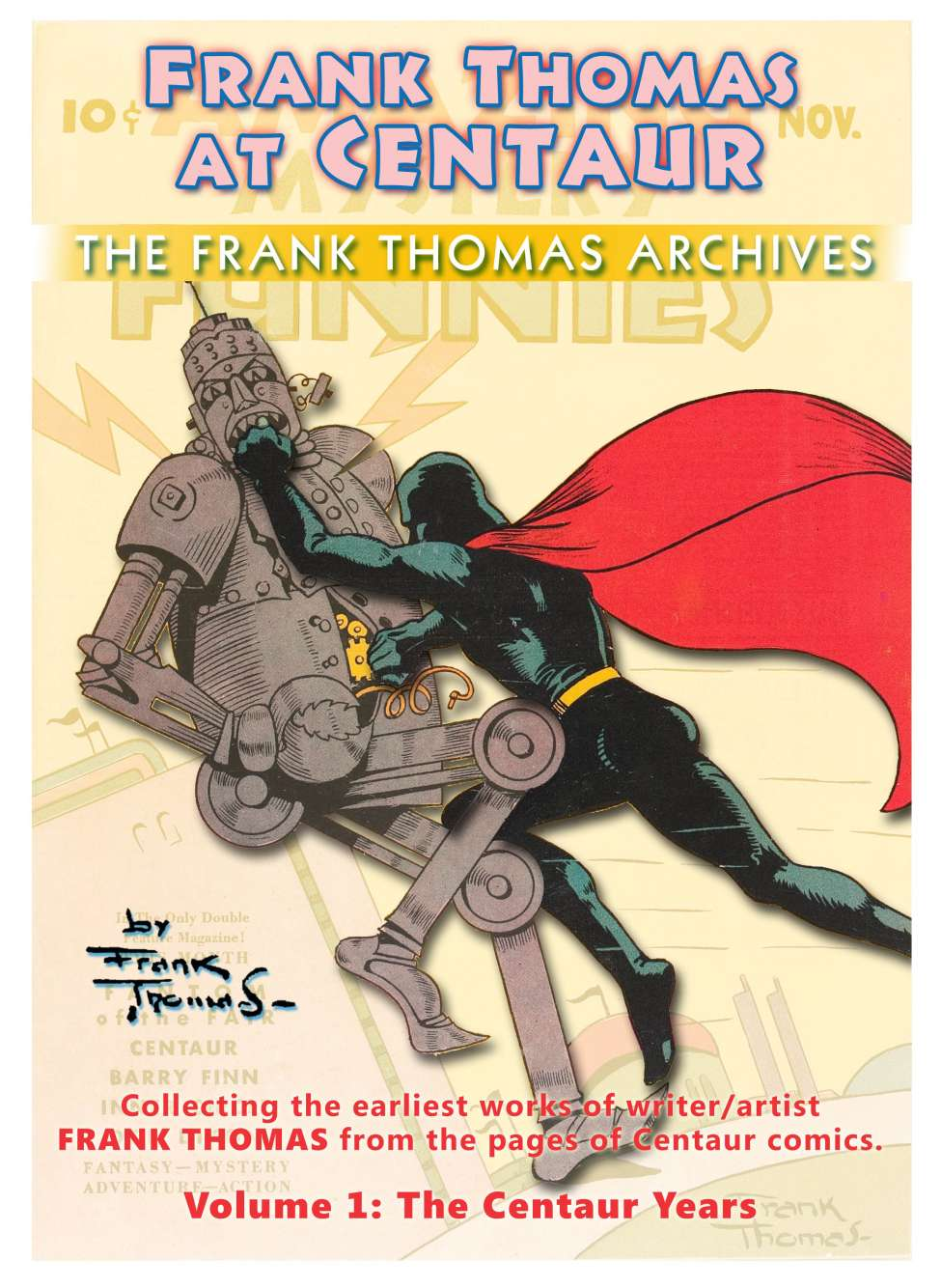 Comic Book Cover For Frank Thomas Archives Text Extras Only (Centaur+Dell)