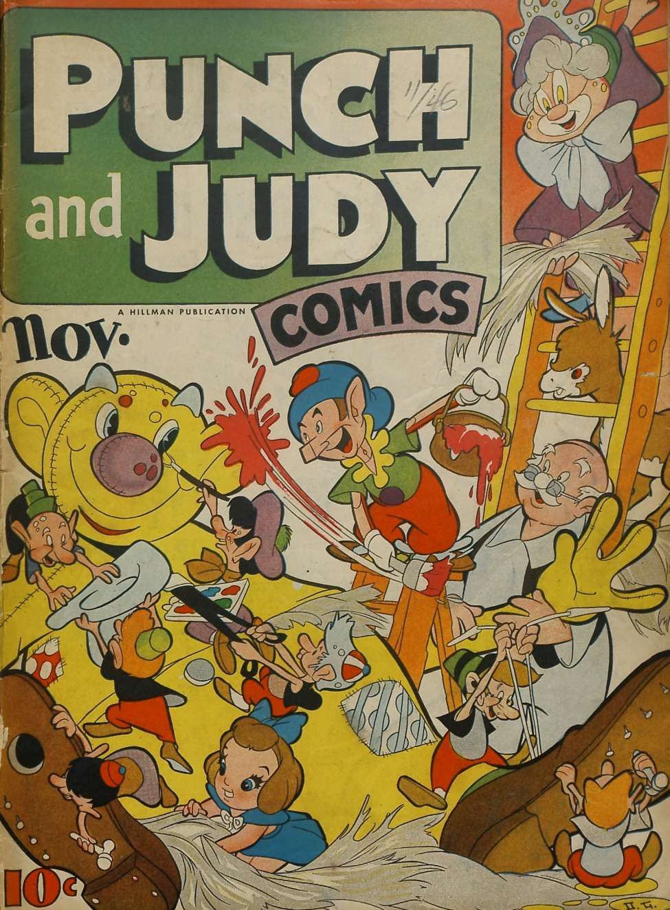 Comic Book Cover For Punch and Judy Comics v2 #4