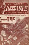Cover For L'Agent IXE 13 v2 59 Le plafond qui tue