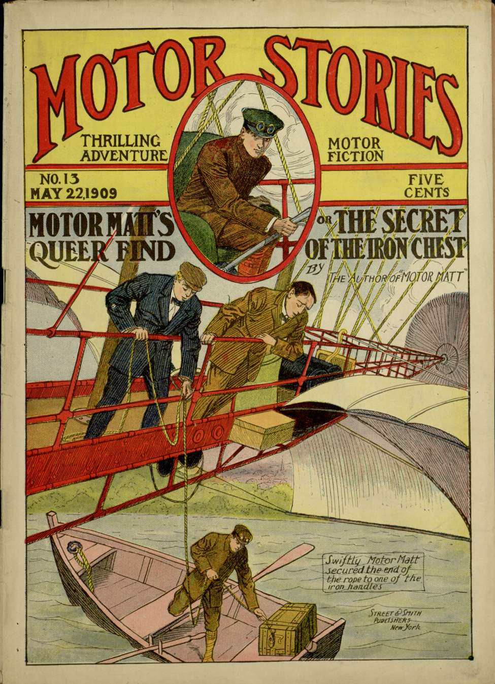 Comic Book Cover For Motor Matts Queer Find or the Secret of the Iron Chest