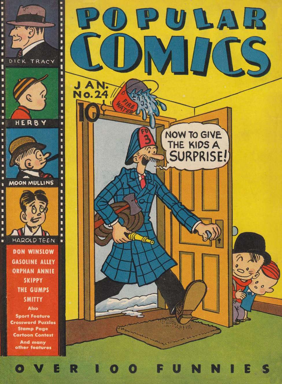 Comic Book Cover For Popular Comics #24
