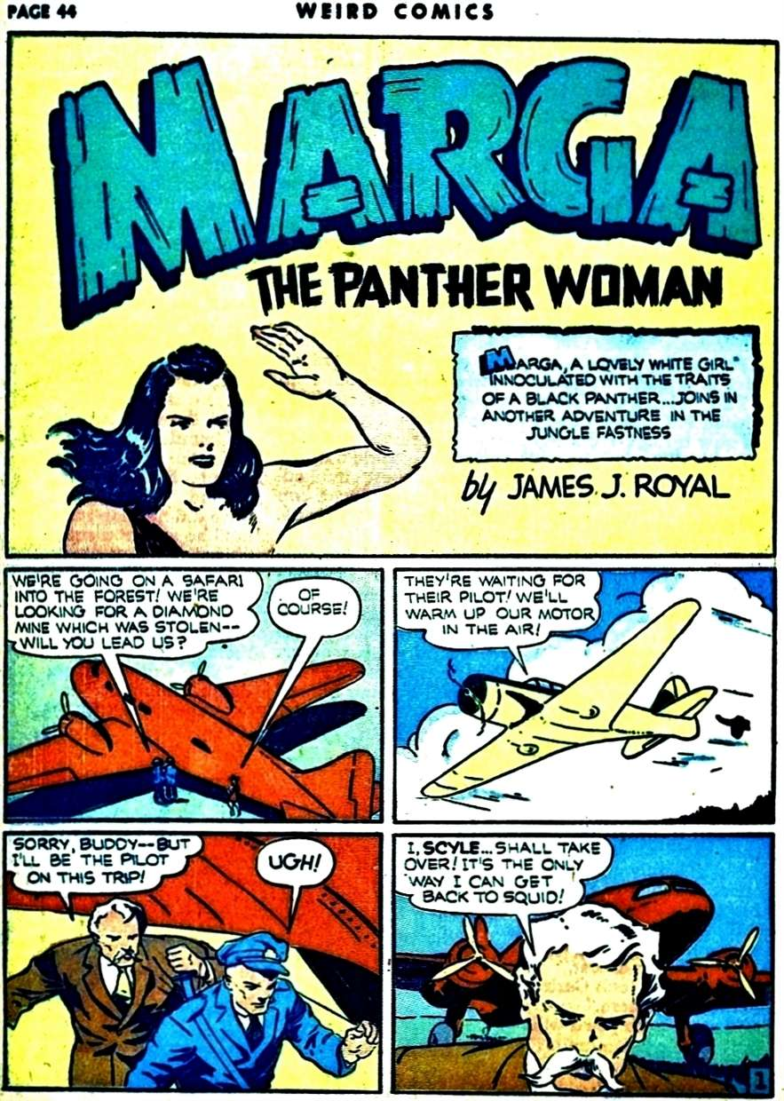 Comic Book Cover For Marga the Panther Woman Compilation Part 2
