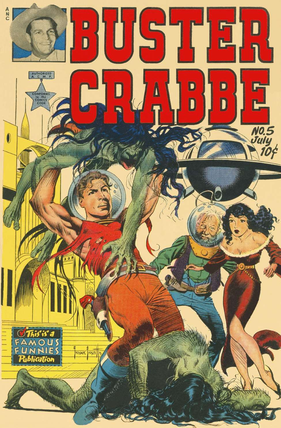 Comic Book Cover For Buster Crabbe #5