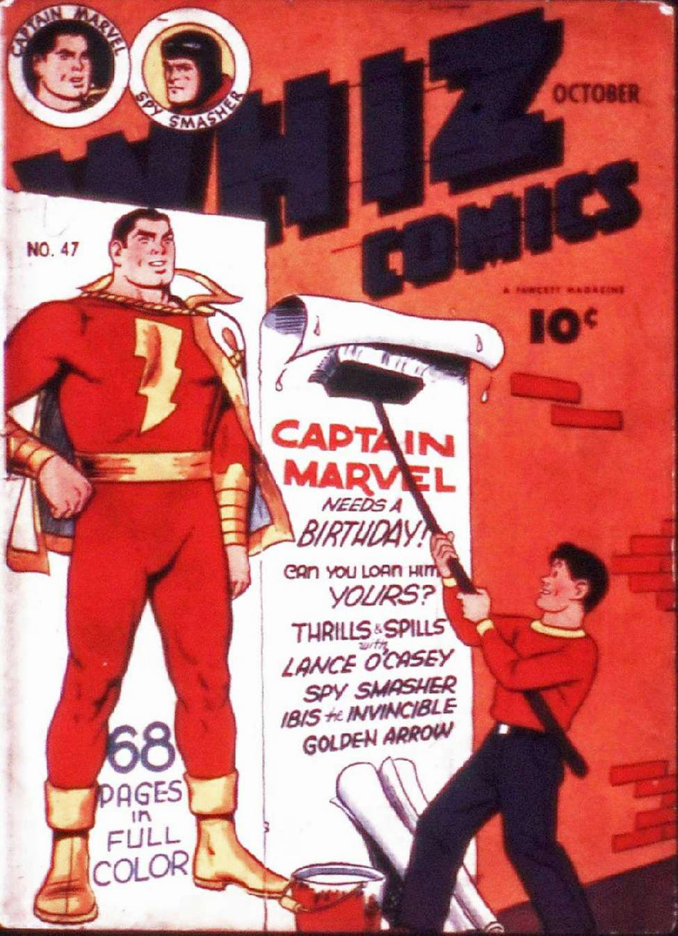 Comic Book Cover For Capt. Marvel Whiz Archives Vol 11
