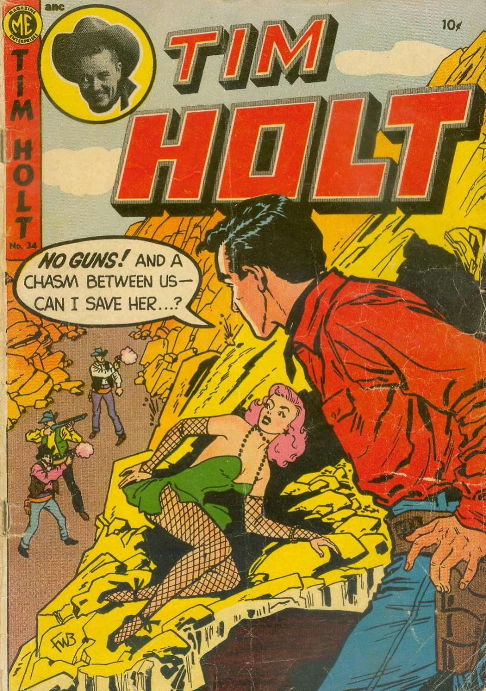 Comic Book Cover For Tim Holt #34
