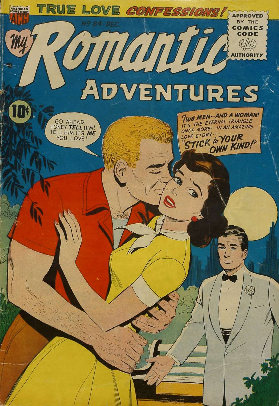 Comic Book Cover For My Romantic Adventures #84