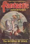 Cover For Fantastic Adventures v11 10 The Octopus of Space Alexander Blade