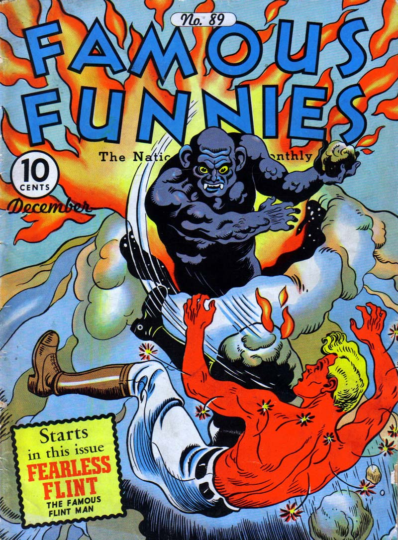 Comic Book Cover For Famous Funnies #89 - Version 1