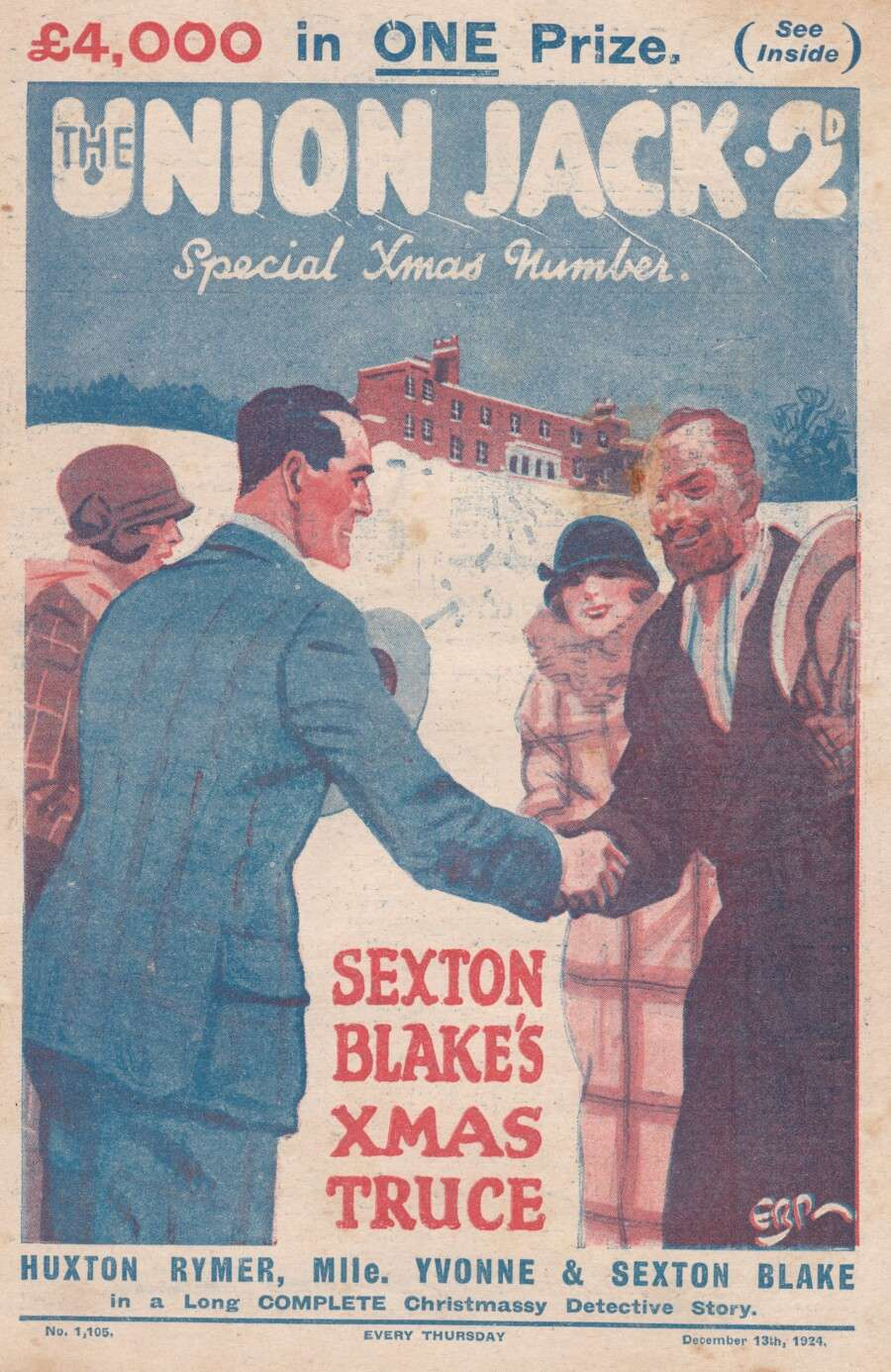 Comic Book Cover For Union Jack 1105 - Sexton Blake's Xmas Truce