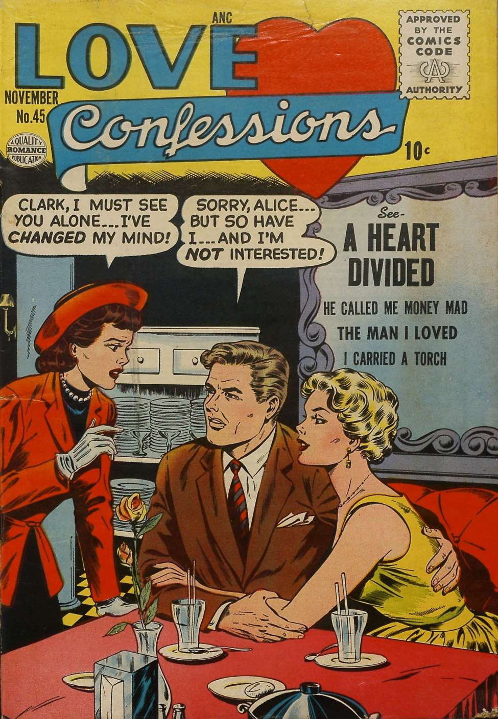 Comic Book Cover For Love Confessions #45