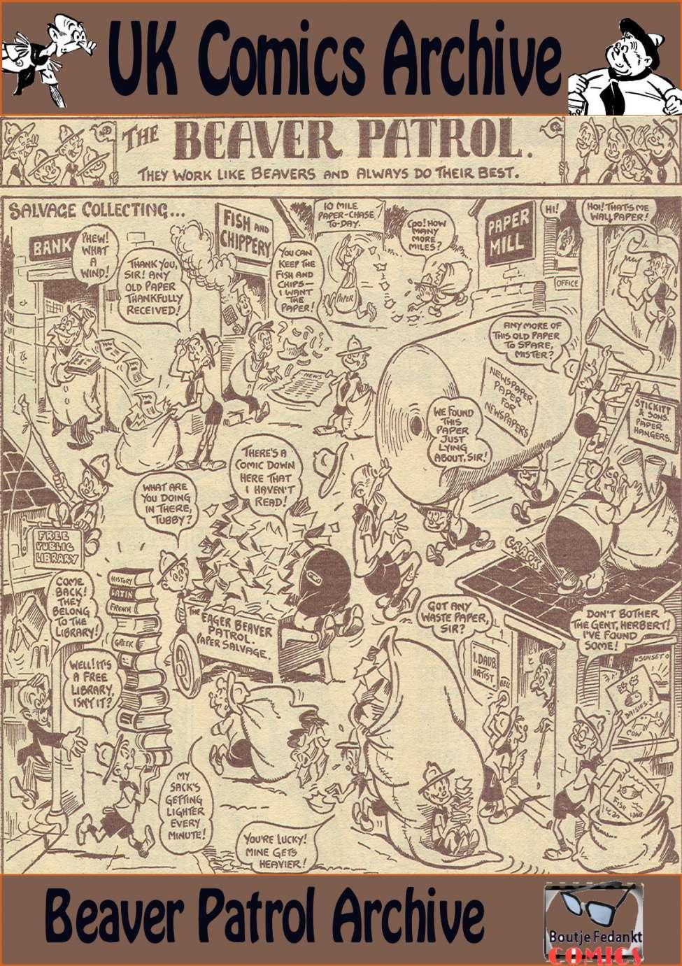 Comic Book Cover For Beaver Patrol