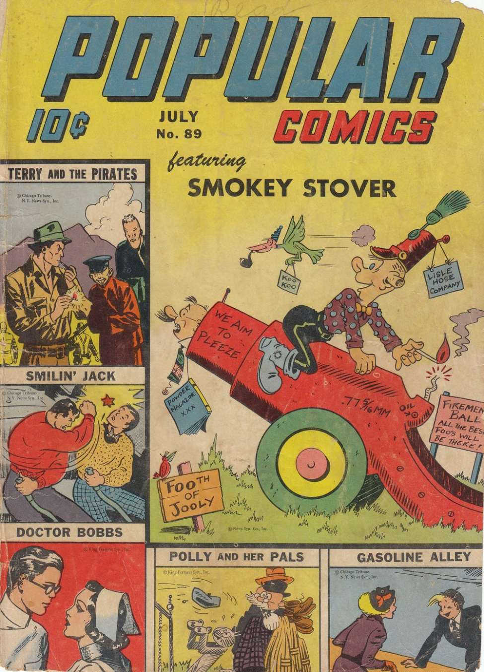 Comic Book Cover For Popular Comics #89