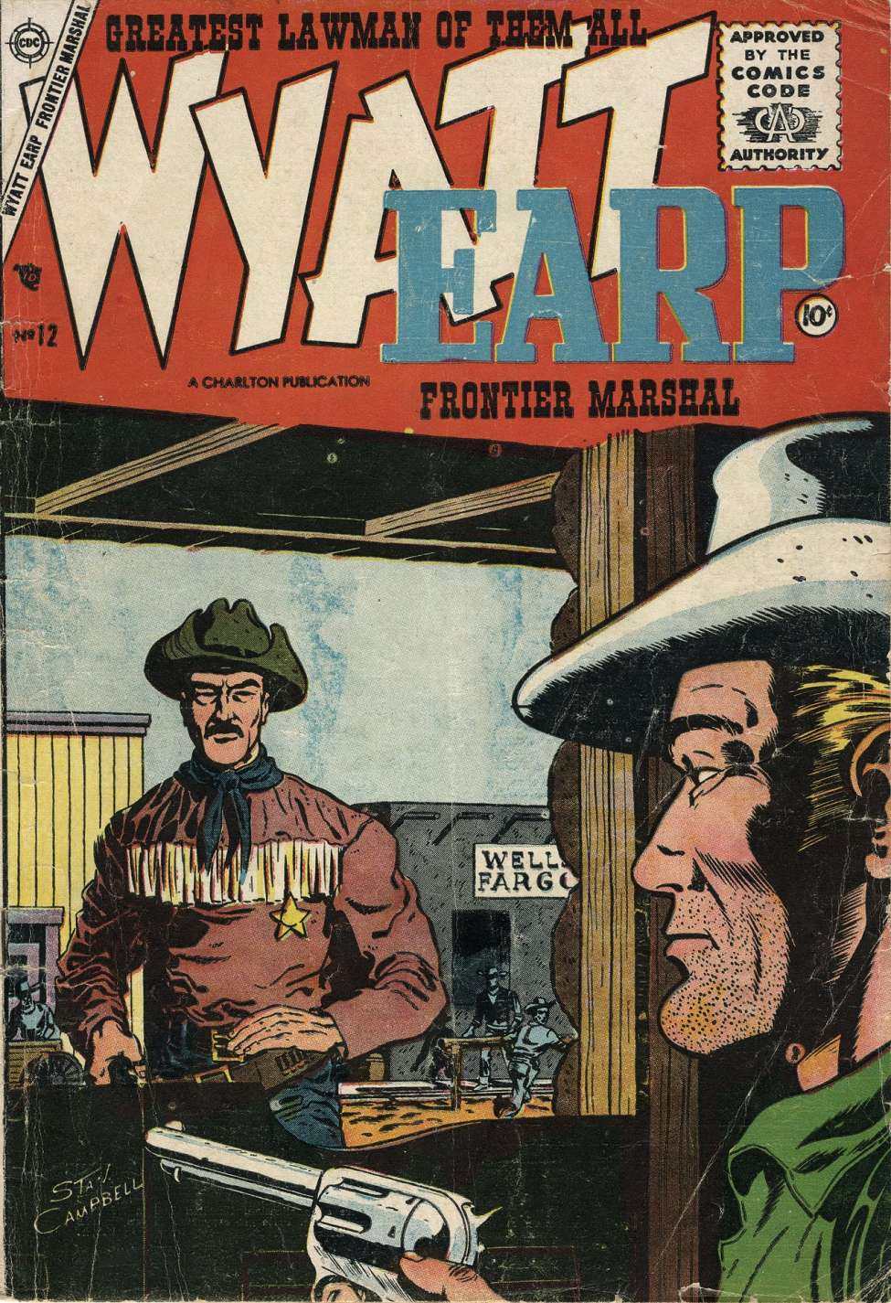 Comic Book Cover For Wyatt Earp Frontier Marshal #12