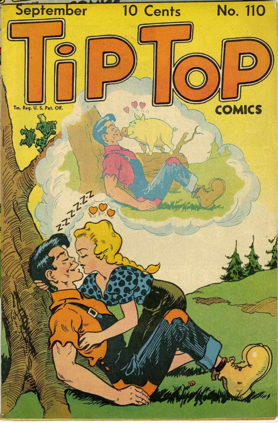 Comic Book Cover For Tip Top Comics #110