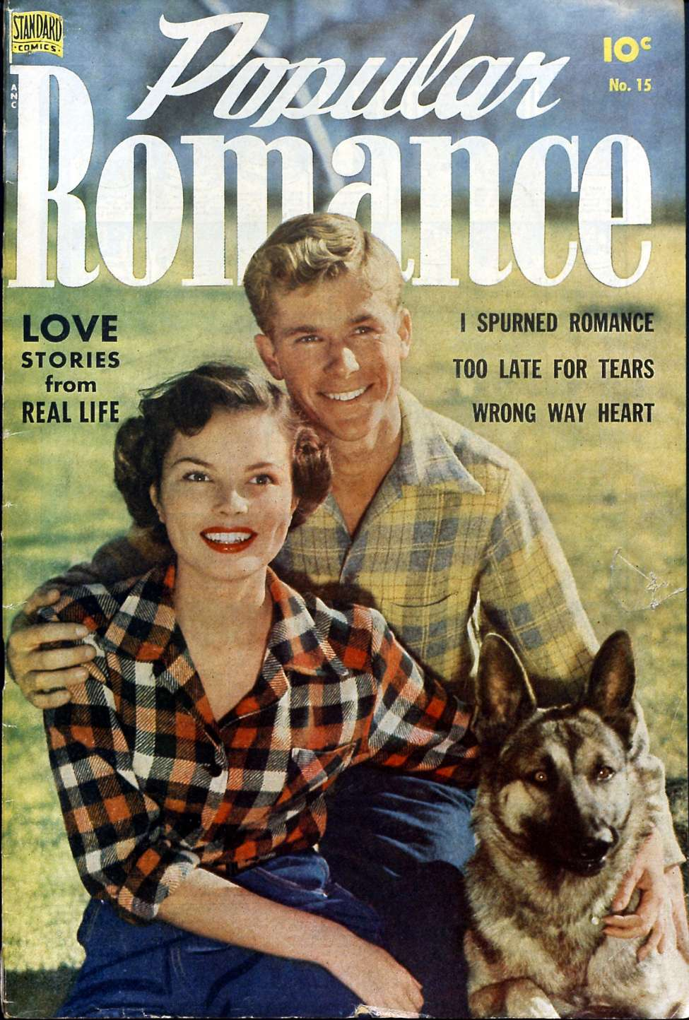 Comic Book Cover For Popular Romance #15