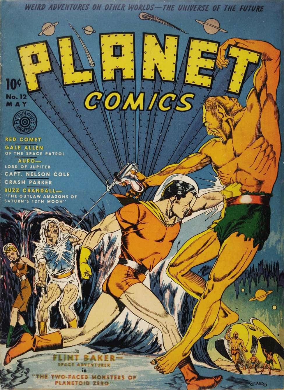 Comic Book Cover For Planet Comics #12