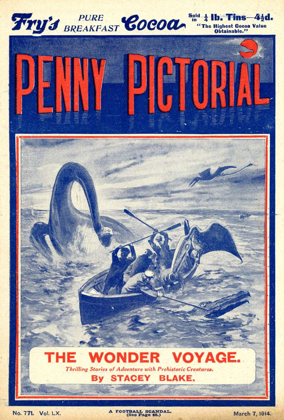 Comic Book Cover For Penny Pictorial - The Wonder Voyage
