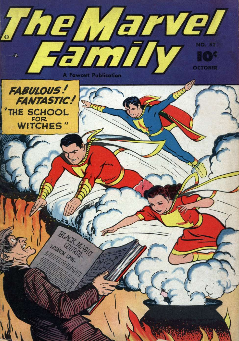 Comic Book Cover For The Marvel Family #52