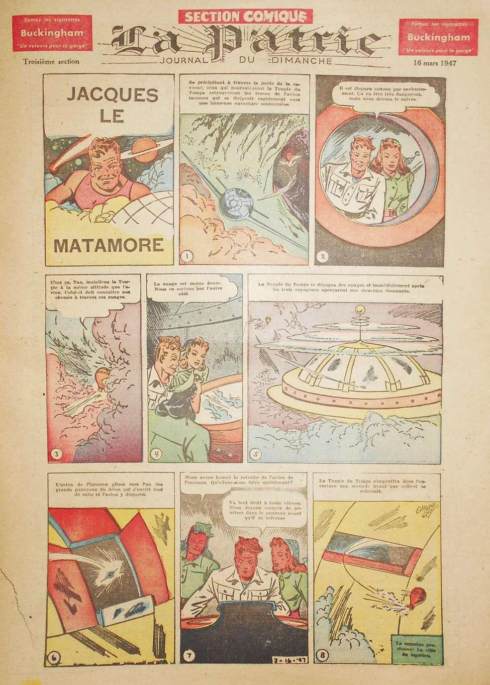 Comic Book Cover For La Patrie - Section Comique (1947-03-16)