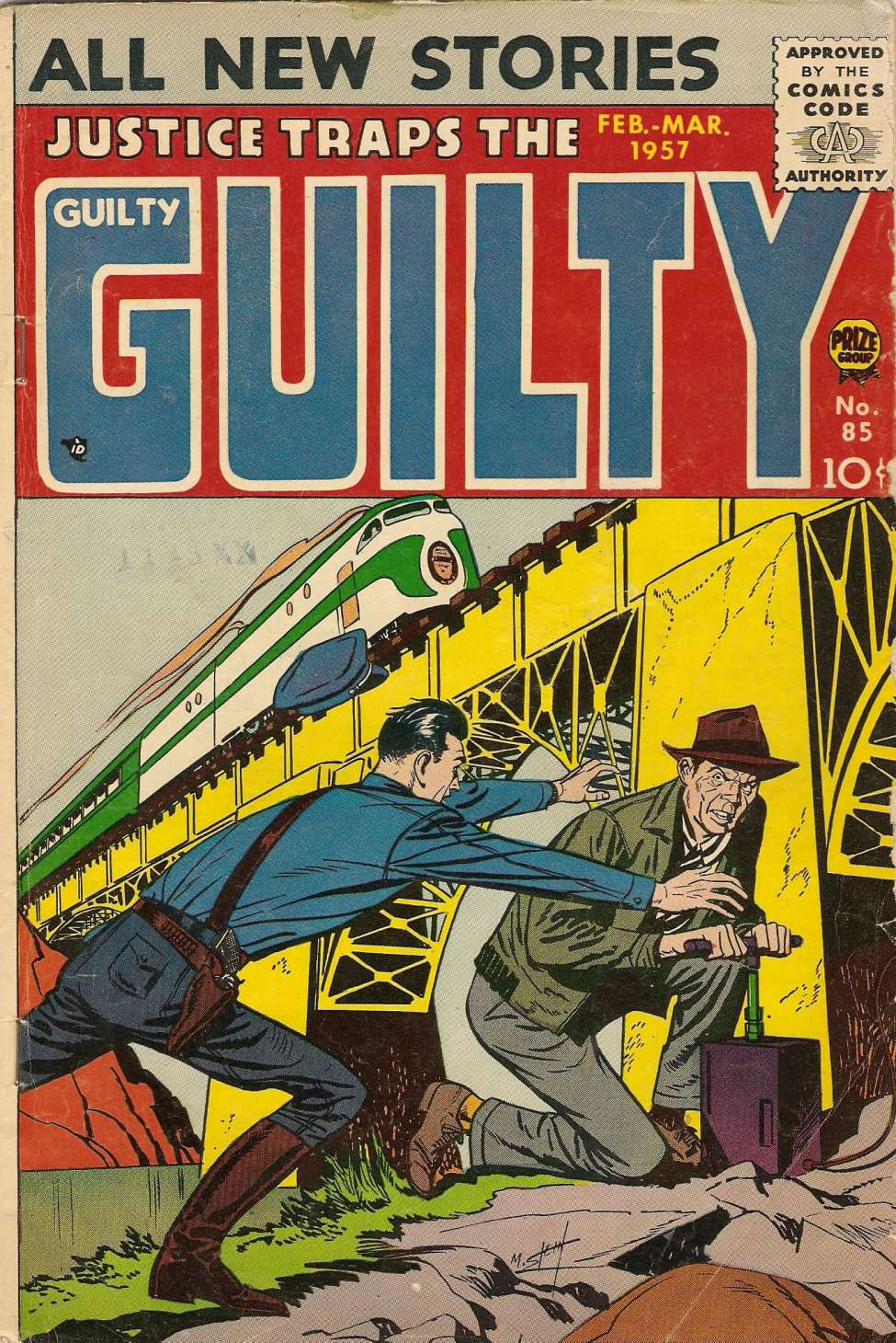 Comic Book Cover For Justice Traps the Guilty v10 1 (85)