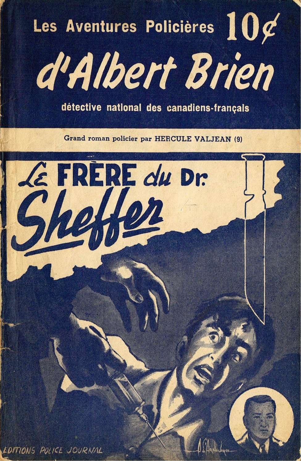 Comic Book Cover For Albert Brien v2 09 - Le frère du Dr. Sheffer