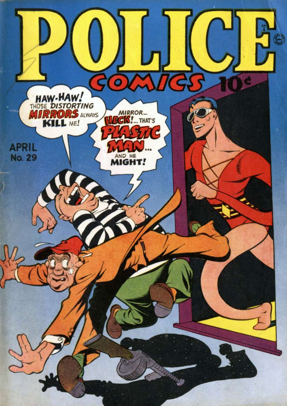 Comic Book Cover For Police Comics #29
