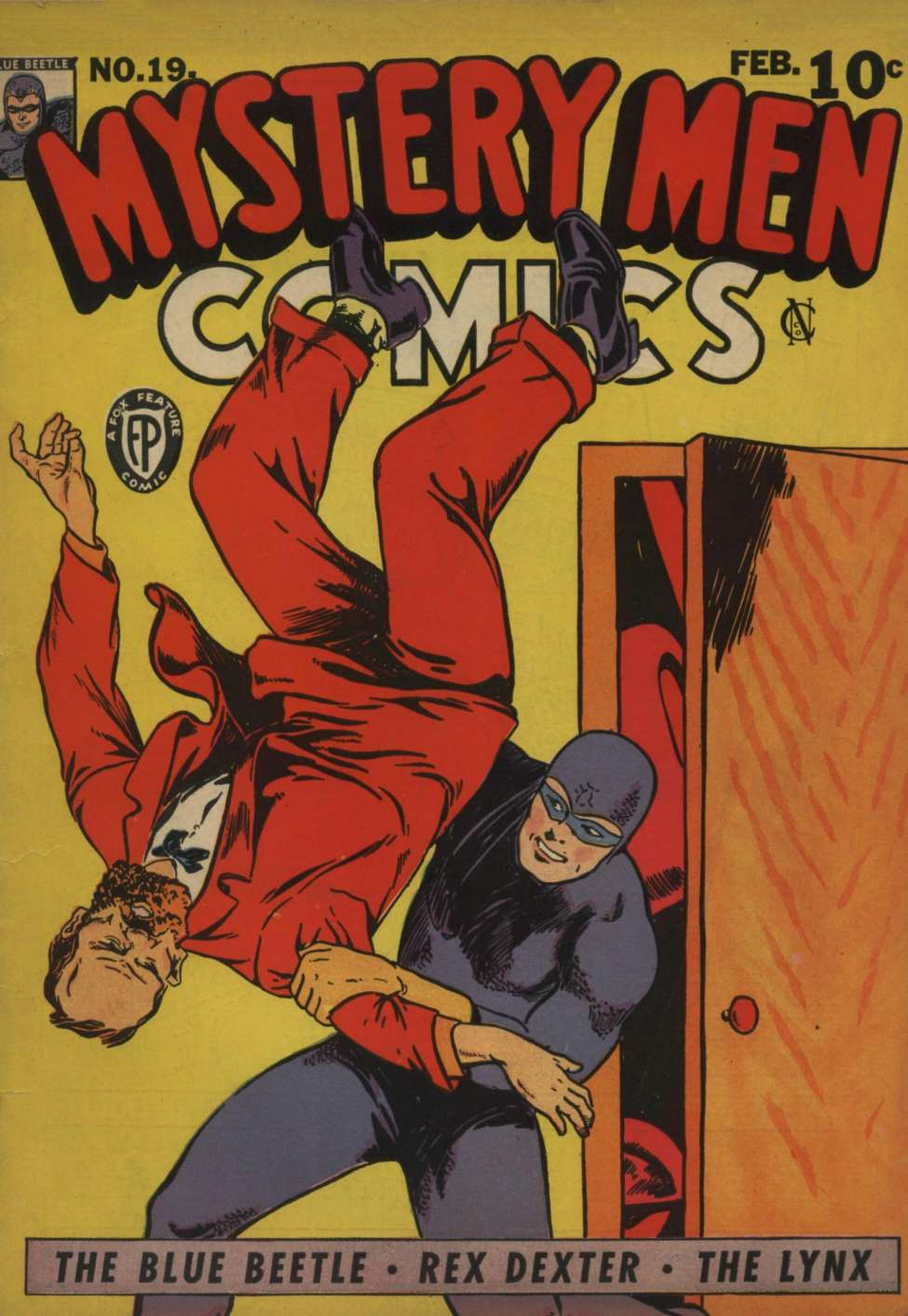 Comic Book Cover For Mystery Men Comics #19