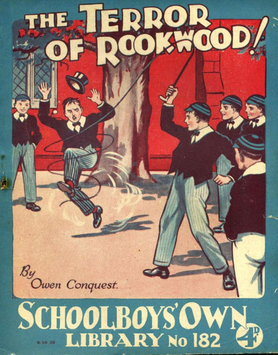 Comic Book Cover For Schoolboys' Own Library 182 - The Terror of Rookwood