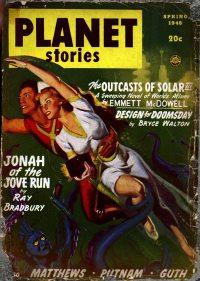 Large Thumbnail For Planet Stories v03 10 - Jonah of the Jove-Run - Ray Bradbury