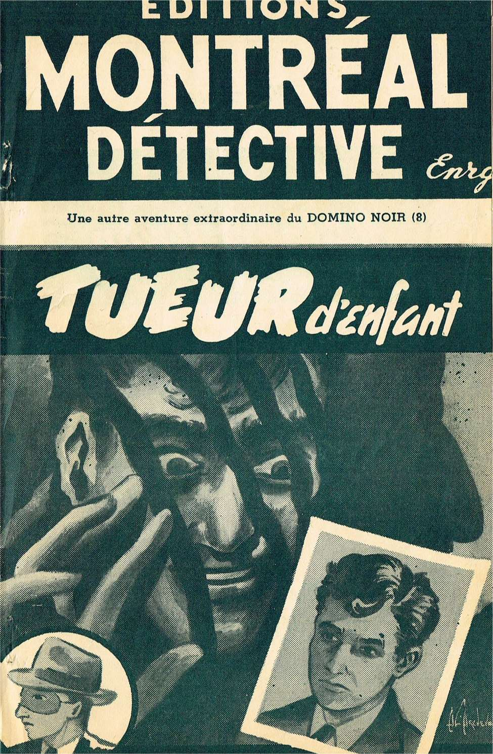 Comic Book Cover For Domino Noir v2 08 - Tueur d'enfant