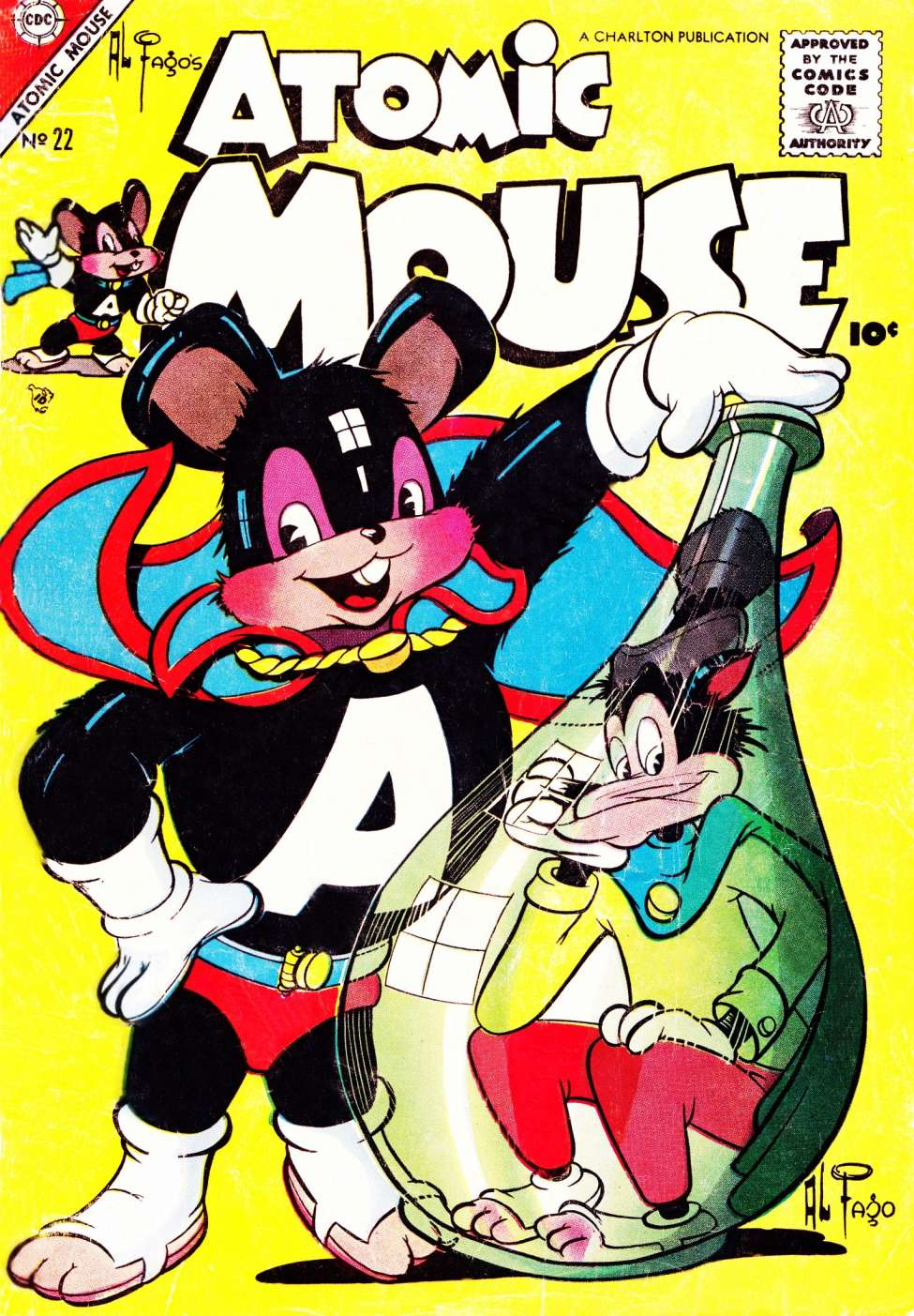 Comic Book Cover For Atomic Mouse #22