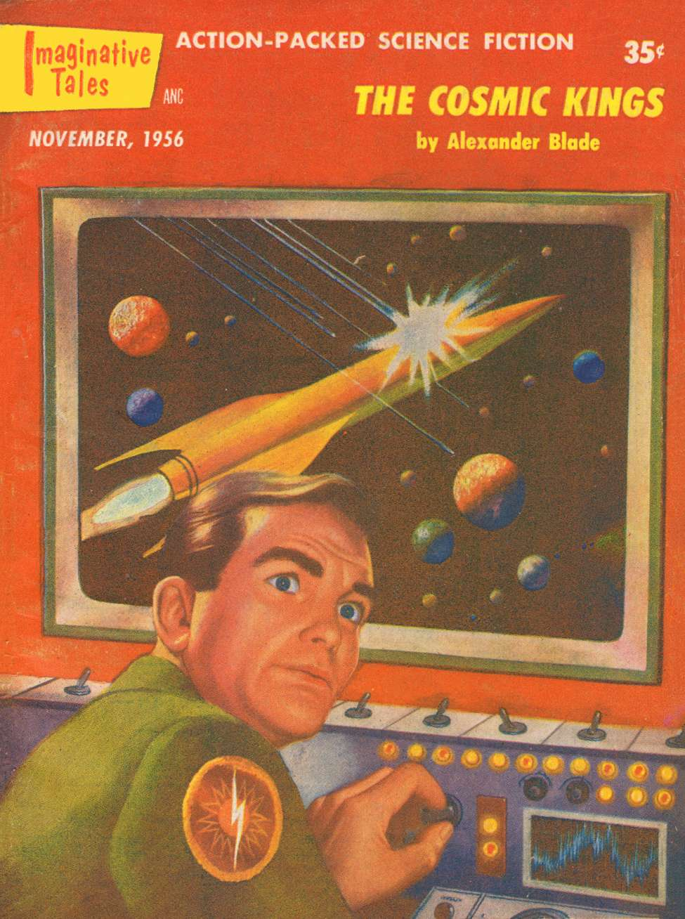 Comic Book Cover For Imaginative Tales v03 06 - The Cosmic Kings - Alexander Blade